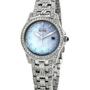 Citizen Women's White Diamond Eco Drive Watch